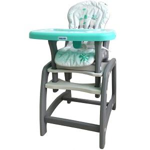 Jídelní židlička Baby Mix 2v1 v zeleném provedení