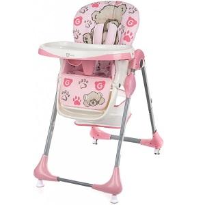 Jídelní židlička Melisa od G-mini v růžovém provedení