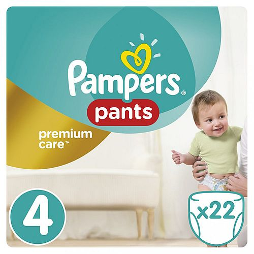 Plenky Pampers Premium Care Pants 4 Maxi 9-14 kg 22 ks