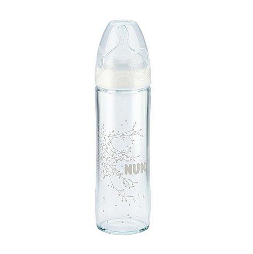 Skleněná kojenecká lahev NUK First Choice Plus bílá New Classic 240 ml