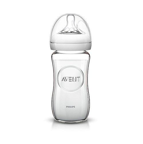Skleněná lahev Philips Avent Natural bez BPA SCF673/17 transparentní 240 ml