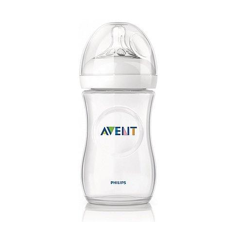 Kojenecká lahev Philips Avent Natural PP s antikolikovým systémem  - transparentní 330 ml