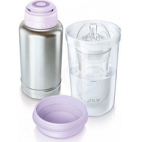 Cestovní termoska a ohřívač lahví Philips Avent představuje rychlý a bezpečný způsob, jak ohřívat odsáté mateřské nebo sušené mléko