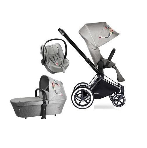 KOMBINOVANÝ KOČÁREK CYBEX SET PRIAM ALL TERRAIN a CLOUD Q PLUS MANHATTAN GREY
