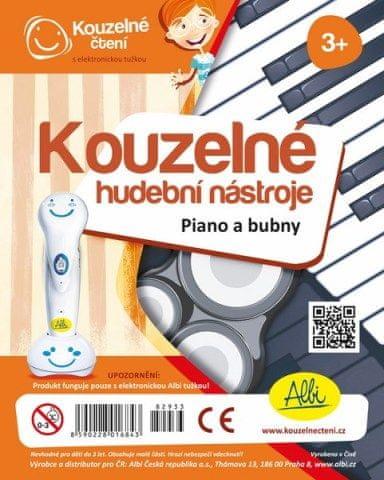 Albi Albi Kouzelné čtení - Kouzelné nástroje - Piano a bubny