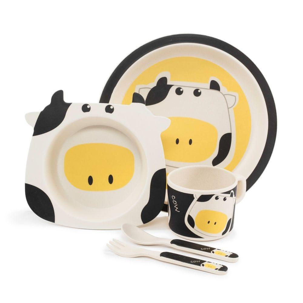Bambusové nádobí pro děti Zopa kravička
