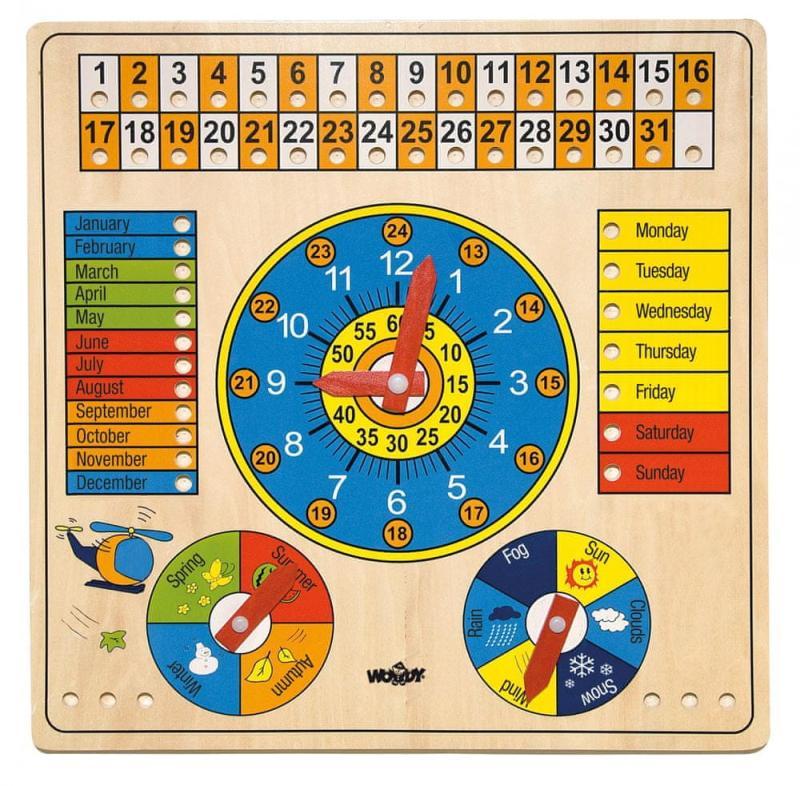 Woody víceúčelový kalendář | Anglicá verze