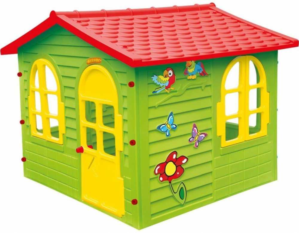 plastový Záhradní domek pro děti s červenou střechou Garedn House od Mochtoys