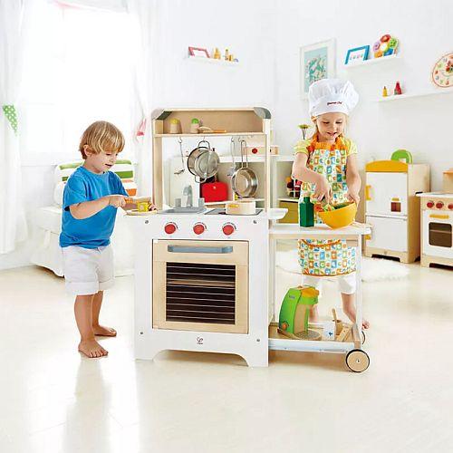 Kuchyňka dřevěná s výsuvným stolkem