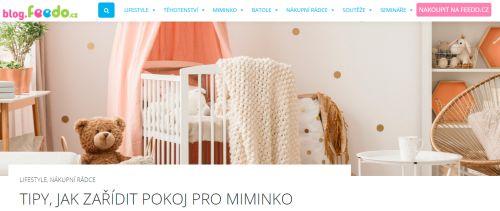 Na blogu Feedo.cz radí jak zařídit pokojíček pro miminko
